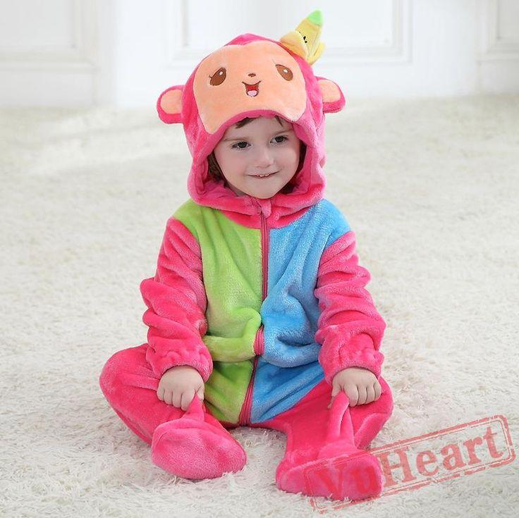 Baby Rainbow Monkey Onesie Costume - Kigurumi Onesies