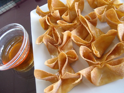 crab and cream cheese wontons - | food & recipes | Pinterest