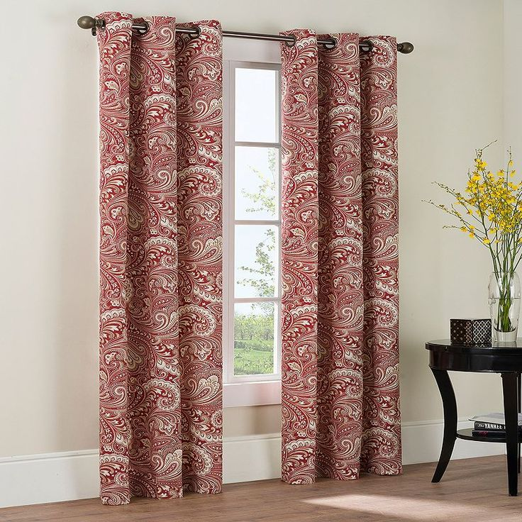 THE BIG ONE PAISLEY 2-PK. CURTAINS (BEIGE/KHAKI)                                                                                                                                                                                 More