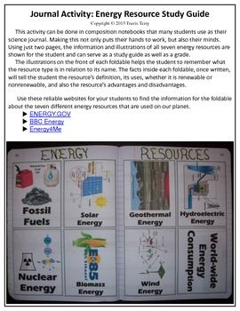 This is a great activity for students to interact with technology by using the internet to research the seven different energy resources. Once they have found accurate information, students will use these pages to replicate the information they've found.