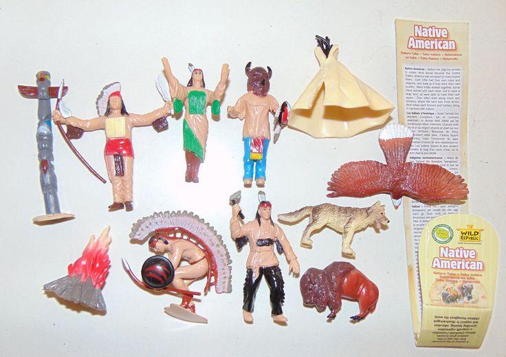 2007 WILD REPUBLIC NATIVE AMERICAN Nature Tube Indians animals accessories #WILDREPUBLIC