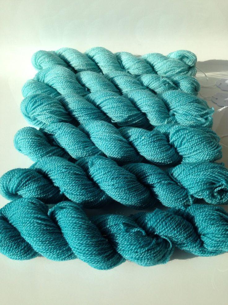 Seafoam Gradient 2ply Australian Merino Silk (90:10%) by TheSilkLab on Etsy