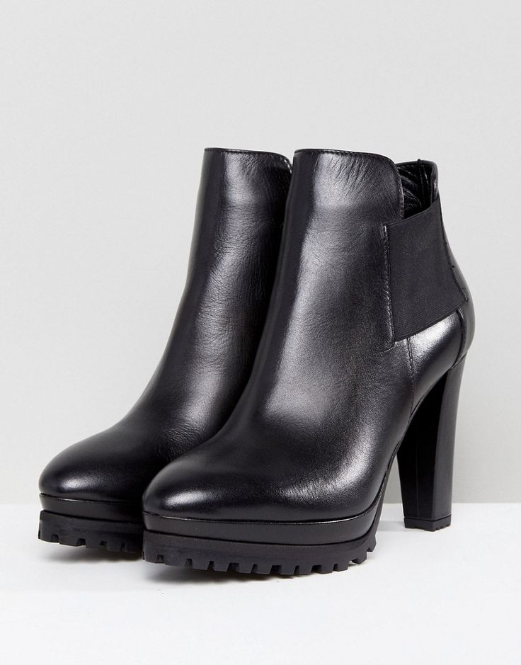 AllSaints Heeled Cutaway Ankle Boots - Black