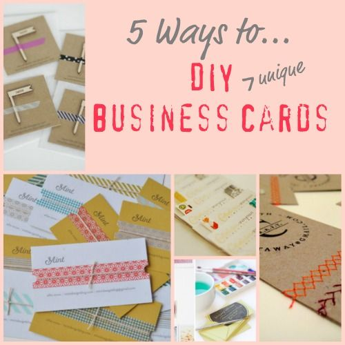 72 best business cards showcase images on pinterest business cards 5 ways to diy business cards gonna try this for my etsy business reheart Choice Image