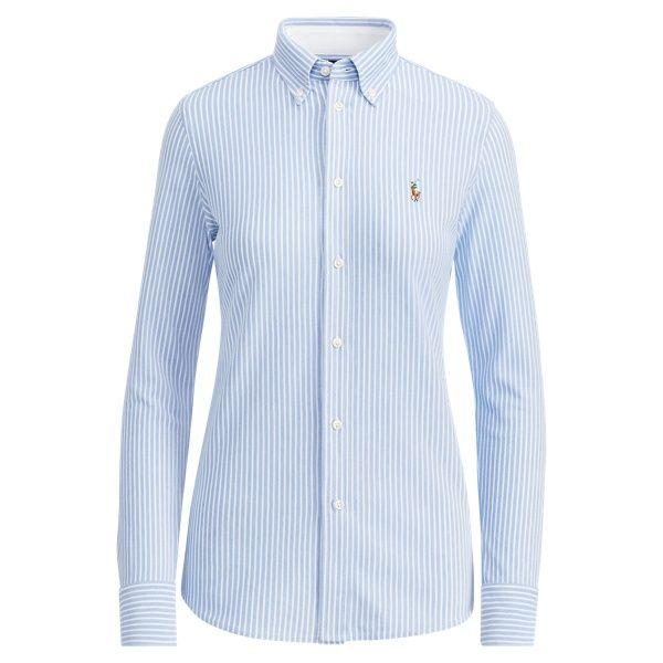 Knit Cotton Blazer Blazers Blazers Vests Ralph Lauren Blue Oxford Shirt Shirts Tops