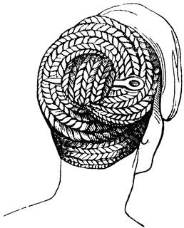 An ancient Roman hairdo.