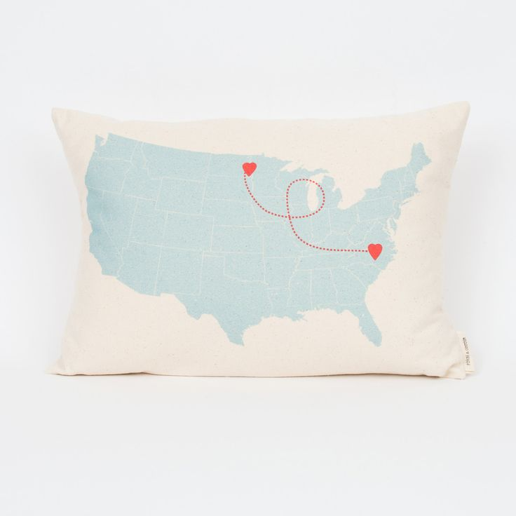 US Map Personalized Pillow, Long Distance Love, Home Pillow, Gift for Mom, Long Distance Friends, Decorative Pillows, Mother's Day Gift