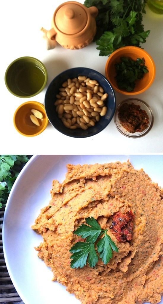 White Bean & Sun-Dried Tomato Dip...details and recipe on the site.