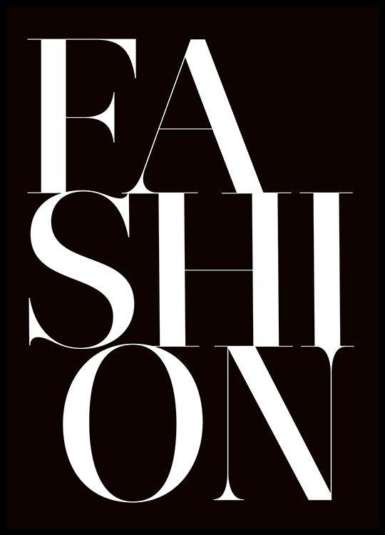 Black fashion, poster i gruppen Posters och prints / Storlekar / 30x40cm hos Desenio AB (8392)