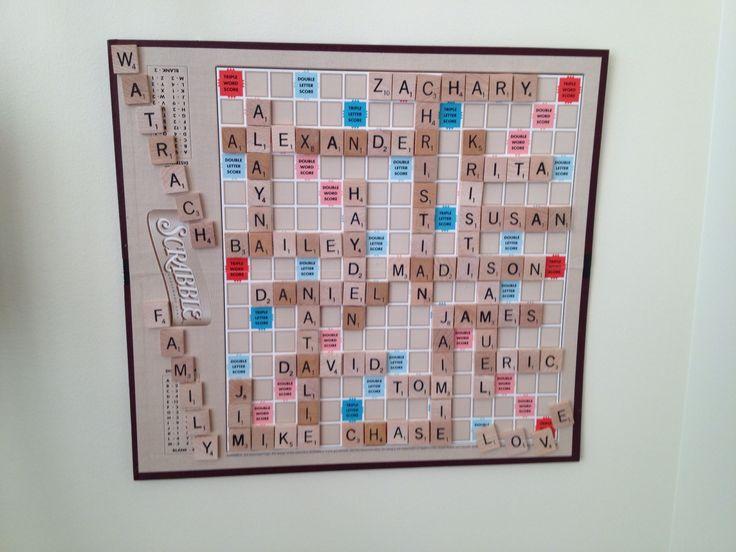 Scrabble Board Family Tree Scrabble Scrabble Board