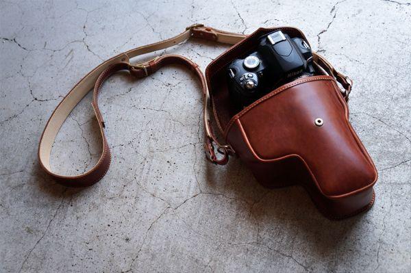 一眼レフ専用ガンホルダー(ブラウン) - 【ROBERU】カメラストラップ,カメラケース,iPhoneケース,iPadminiケースなどレザーアイテム販売!