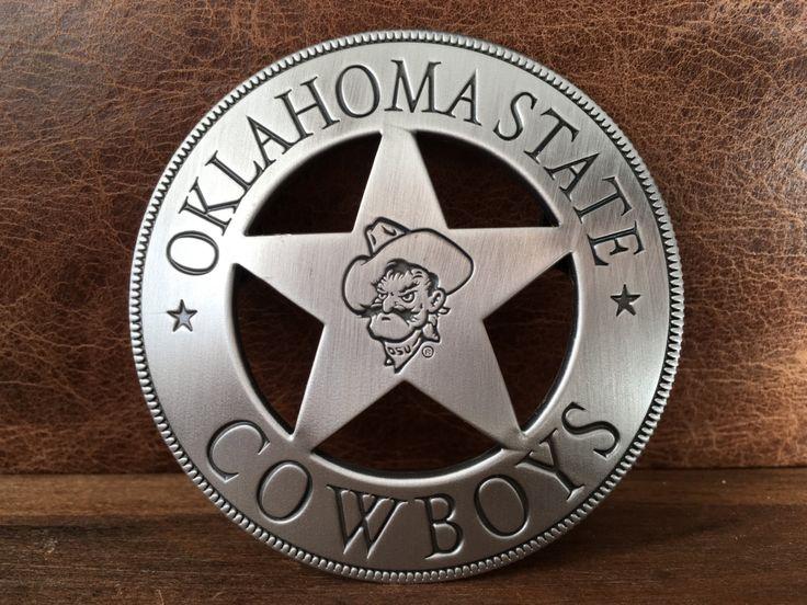 Oklahoma State Cowboy Badge, OSU Ornament, OState badge ornament, OSU Badge,  Pistol Pete badge, OSU Cowboy badge by LegacyWestern on Etsy https://www.etsy.com/listing/262992022/oklahoma-state-cowboy-badge-osu-ornament