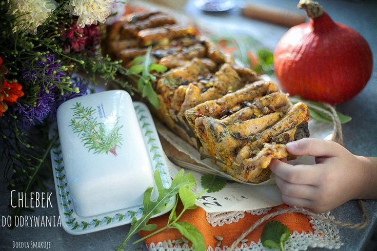 Chlebek do odrywania z dynią i kozim serem