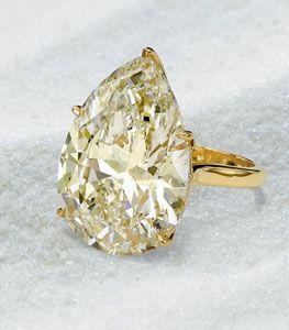 Tear Drop Canary Diamond Solitaire