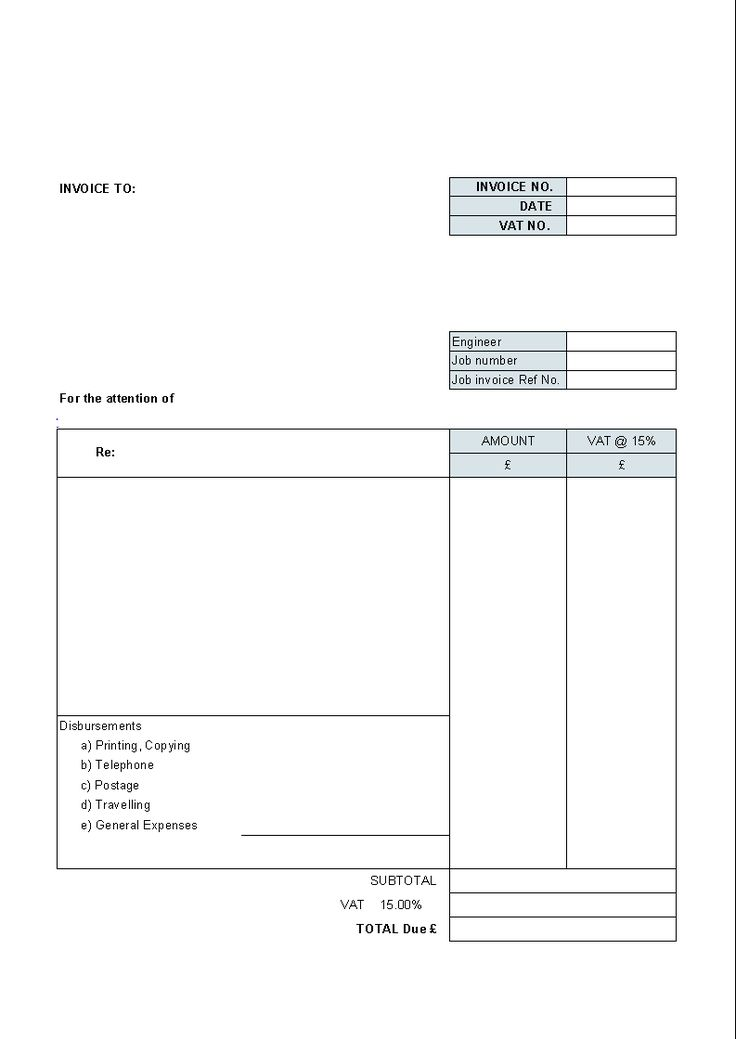 Downloadable Invoice Template Word Blank Invoice Format