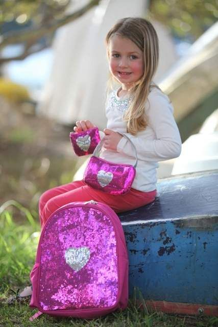 Introducing the Sequin Heart Range ♥ Little girls can step out in style with a sparkly backpack, handbag or purse. Perfect for the little fashionista. http://www.gigglemepink.com.au/product-category/sequin-heart-range/