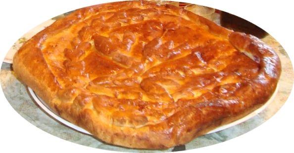 Сибирский пирог с рыбой и рисом