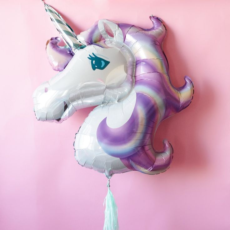 This unicorn balloon is so magical.