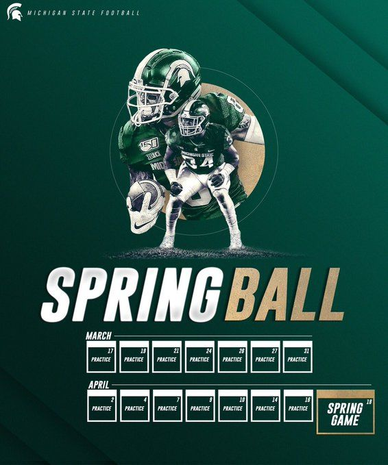 4 Home Twitter In 2020 Sport Inspiration Spring Games Michigan State Football