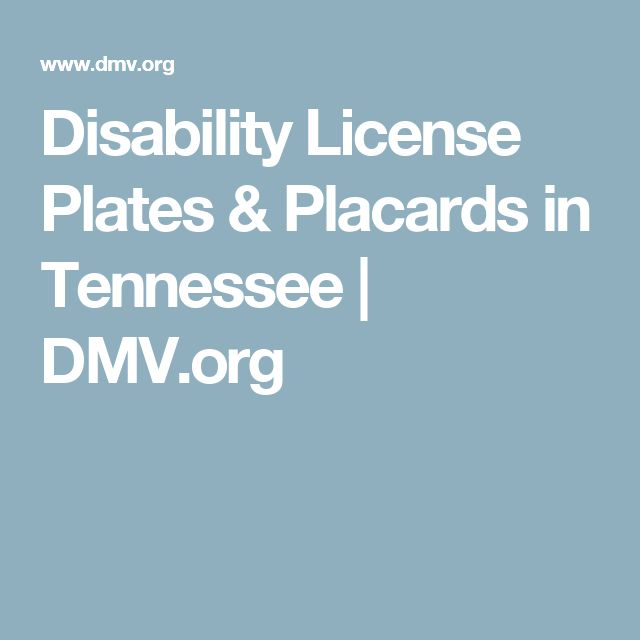 Disability License Plates & Placards in Tennessee | DMV.org