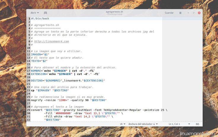 agregartexto script en bash | Agregar texto a una imagen con ImageMagick