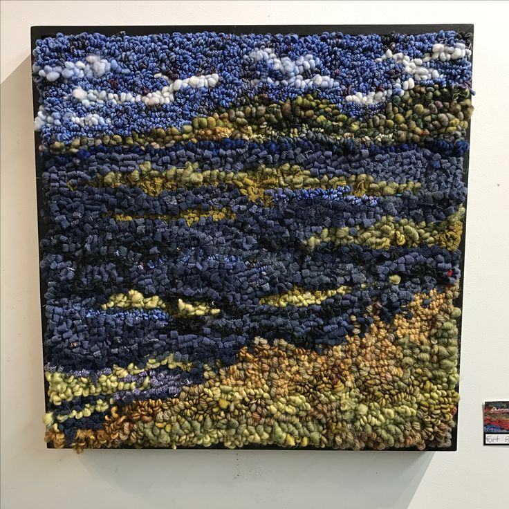 Image result for rug hooking landscapes Rug hooking, Rug