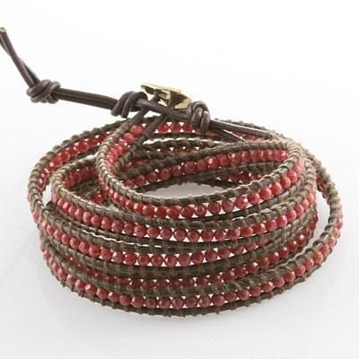 Hello!   I am looking for help creating a bead on leather wrap bracelet!  I've recently been seeing this design for a bracelet but the prices are way out