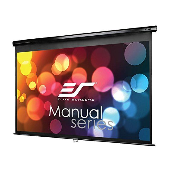 Elite Screens Manual Series 120 Inch 16 9 Pull Down Manual Projector Screen With Auto Lock Movie Home The Projector Screen Projection Screen Electric Screen