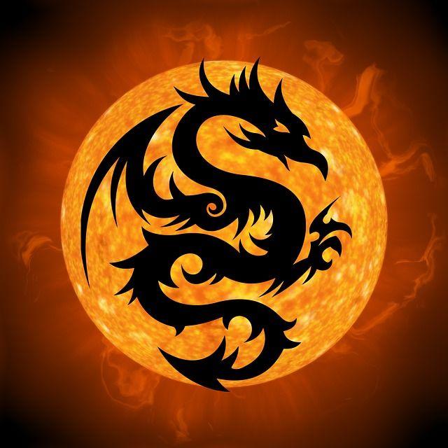 Free Image on Pixabay Dragon Fire Monster Creature Fire dragon Dragon moon Dragon