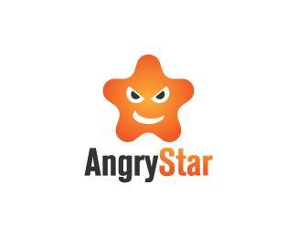 Angry Star Logo design - Logo design of an angry star.  Price $250.00