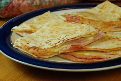 Tops Friendly Markets - Recipe: Grilled Ham and Swiss Quesadillas