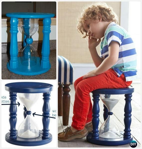 DIY Sand Wood Time Out Stool Instructions - Back-To-School Kids #Furniture DIY Ideas Projects