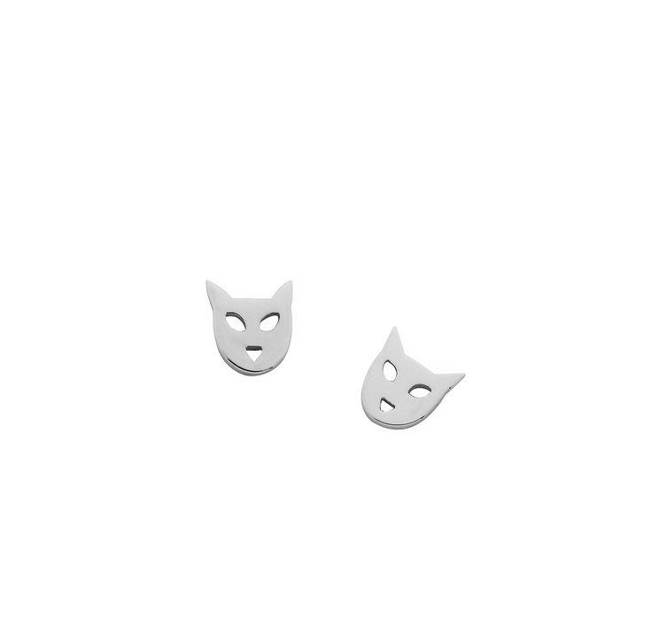 Karen Walker Jewellery cat earring  www.underwoodsfinejewellerskawana.com.au