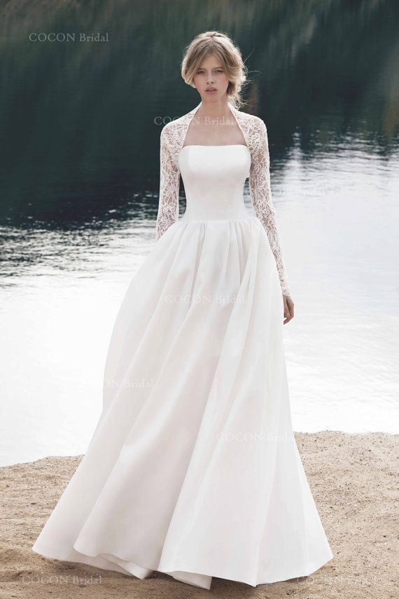 Winter Wedding Dress Designer Wedding Dress Gown by CoconBridal
