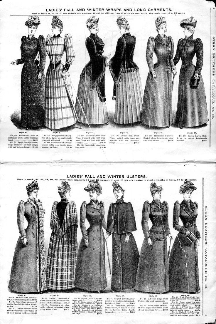 History of 1890s Fashion | Stern Brothers, No. 66, 1890 Fall & Winter 1891, Fashion Catalog / 004