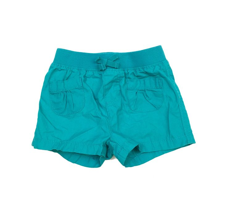 Children's Place Girls Teal Shorts - Size 12-18M