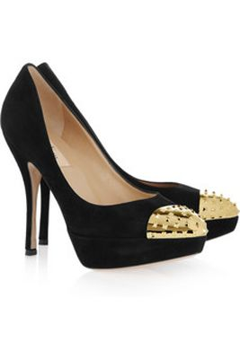 Valentino Studded Toe Cap Suede Pumps: Fall Shoes, Suede Pumps, Shoes Boots, Shoe Fetish Glitz, Fancy Footwork, Dazzling Shoes