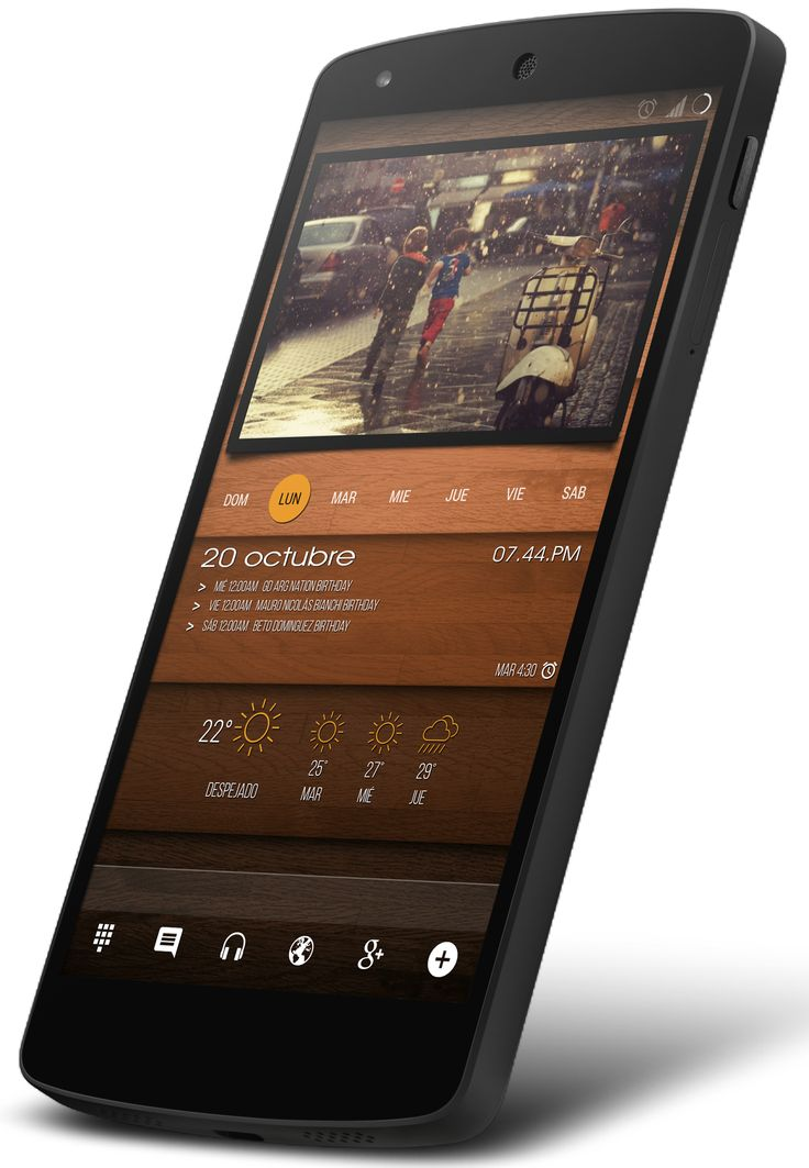 Wood Android Homescreen by betinho - MyColorscreen
