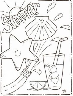 Michelle Kemper Brownlow: Summer Coloring Pages - Original MKB Designs