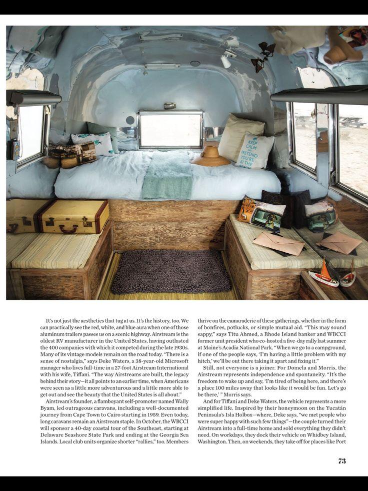 Airstream, Betty Jane in Coastal Living magazine