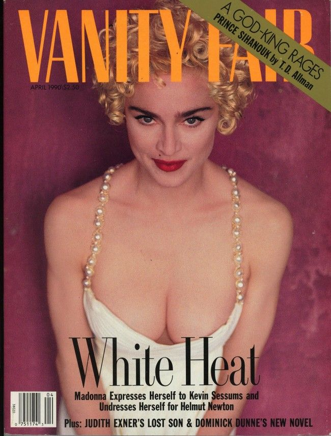 And a little bit more. Madonna photographed by another legend, my favorite, Helmut Newton. Vanity Fair April 1990.