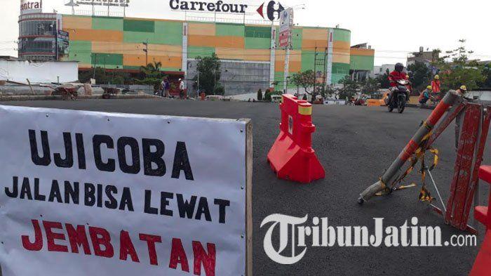 Dalam Tahap Uji Coba, Jembatan Ratna Surabaya Boleh Dilalui Kendaraan