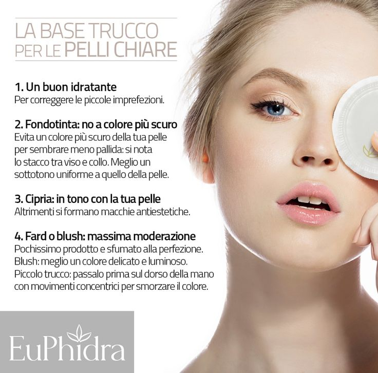 Il make up per chi ha la pelle chiara. La base trucco. #idratante #fondotinta #blush #cipria