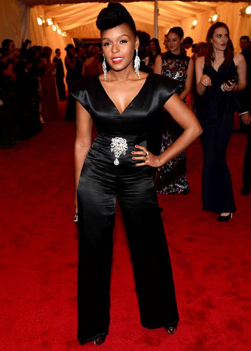 Janelle Monae Celebrity Style Fashion Met Gala Style