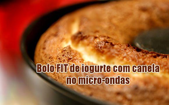 Bolo FIT de canela com iogurte no micro-ondas #bolos #receitas #dieta #fit #fitness #academia #nutrição #dicas