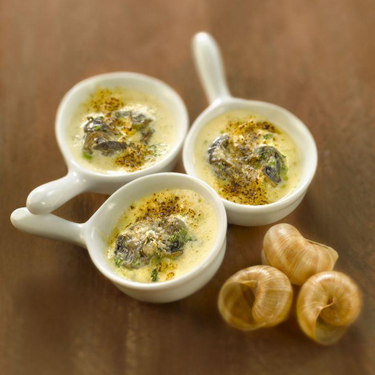 Découvrez la recette Crème brûlée aux escargots en persillade sur cuisineactuelle.fr.