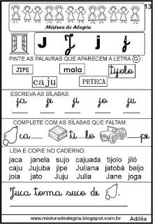 Livro famílias silábicas-letra J