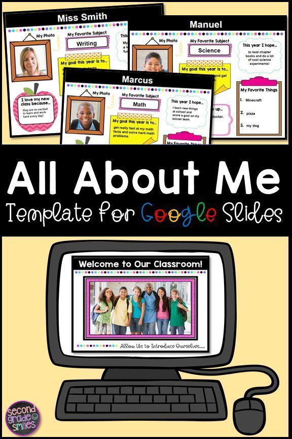 This Digital All About Me Poster And Or Google Slides Presentation Is A Great Way To Learn A Bi Teaching First Grade Teaching Third Grade Teaching Second Grade