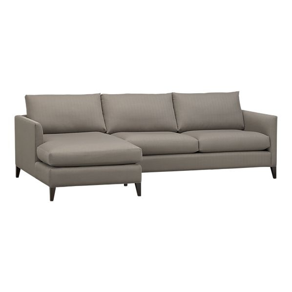 Klyne 2 piece sectional left arm chaise right arm for Kid friendly sectional sofa
