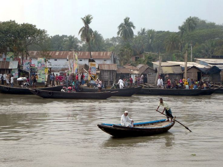 The ramshackle riverfront at Khulna, Bangladesh, is always active.